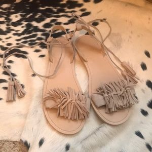 Shoes - Fringe Sandals